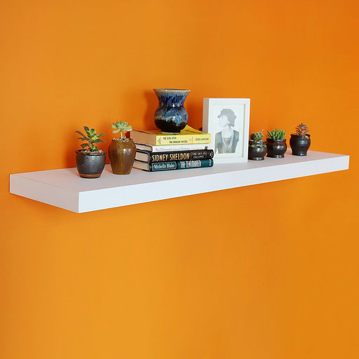 "12"" Depth Grande Floating Wall Shelf Display Floating Shelf 48""×12""×2"""