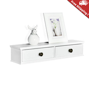 Wall Mounted Storage Shelf with two Drawer, 24.5''L x 6''D x 4.75''T