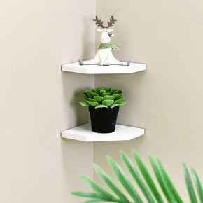 7 Inch Floating Corner Shelves Set of 2