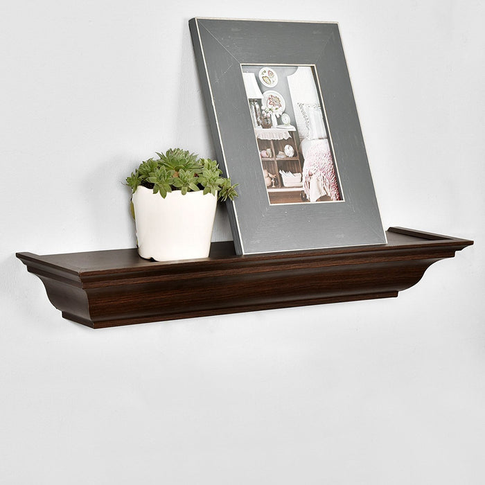 Classic Wall Floating Shelf Crown Molding Mantle Display Ledge Shelves 48-Inch