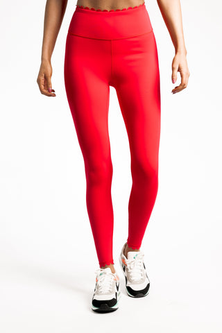 Scallop Legging - Red