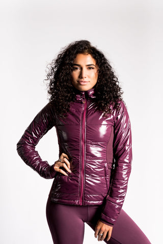 Insulated Puffer Jacket - Wine