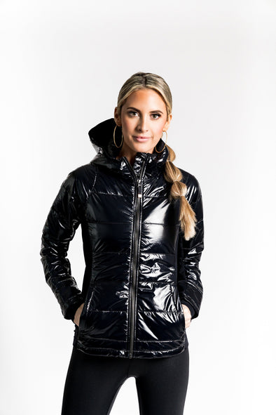 Insulated Puffer Jacket - Black