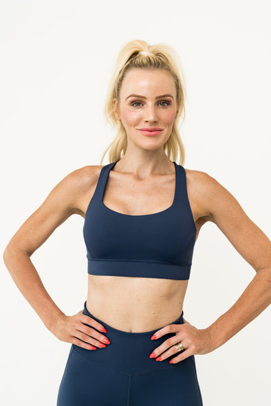 Stay In Place Bra - Navy