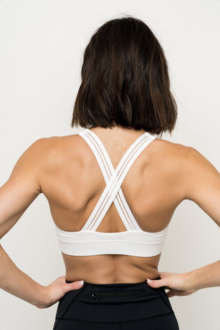 Stay-In-Place Bra - White
