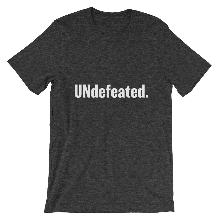 UNdefeated Unisex Tee (white print)