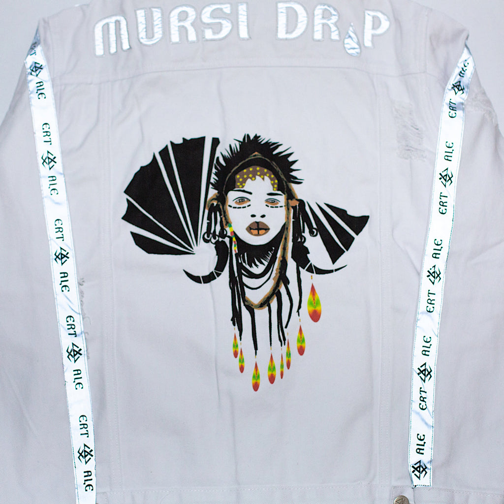 ERT-ALE™ Mursi Denim Jacket  - Limited Edition - White