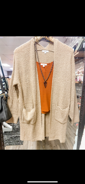 Taupe Knit cardigan