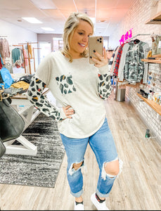 Leopard Pocket Tee - Lucy Couture Boutique