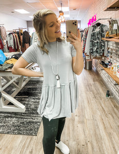 Cement Blue Top - Lucy Couture Boutique