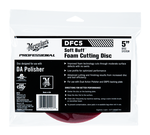Meguiar's Pro DFC5 Soft Buff DA Foam Cutting Disc 5''
