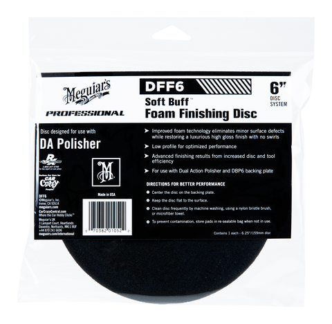 Meguiar's Pro DFF5 Soft Buff DA Foam Finishing Disc 6''