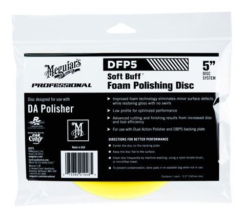 Meguiar's Pro DFP5 Soft Buff DA Foam Polishing Disc 5''