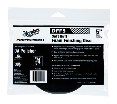 Meguiar's Pro DFF5 Soft Buff DA Foam Finishing Disc 5''
