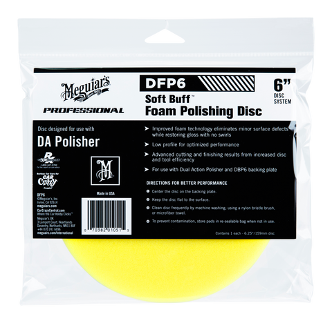 Meguiar's Pro DFP6 Soft Buff DA Foam Polishing Disc 6''