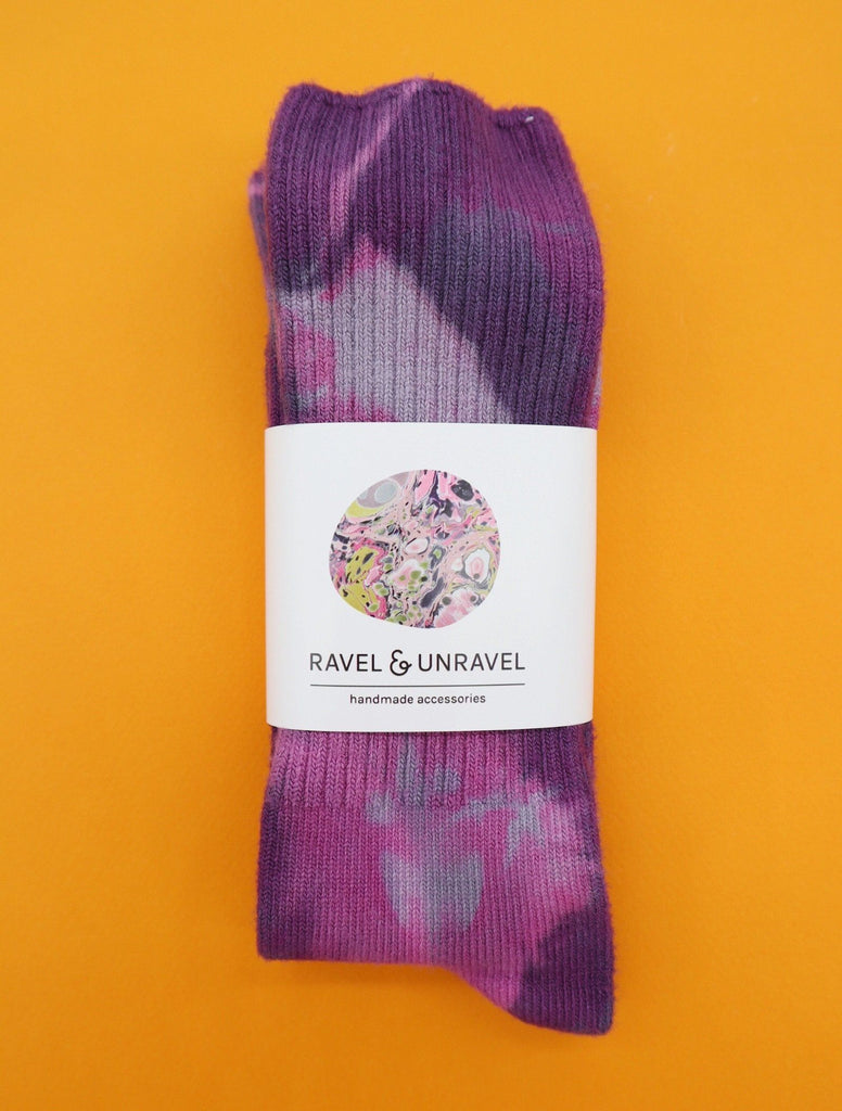 Bamboo Socks Ravel & Unravel Plum Crazy Purple