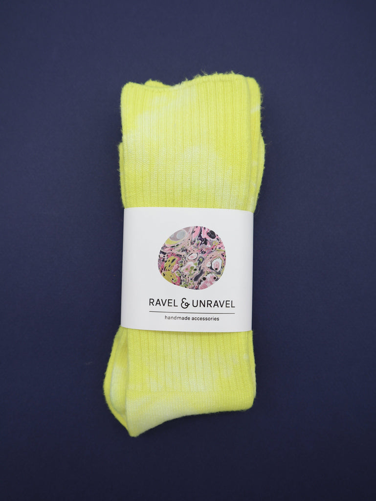 Bamboo Socks Ravel & Unravel Sunshine Yellow