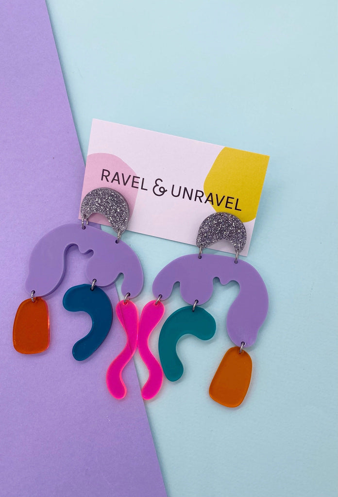 Doodle Monster Earrings Earrings Ravel & Unravel