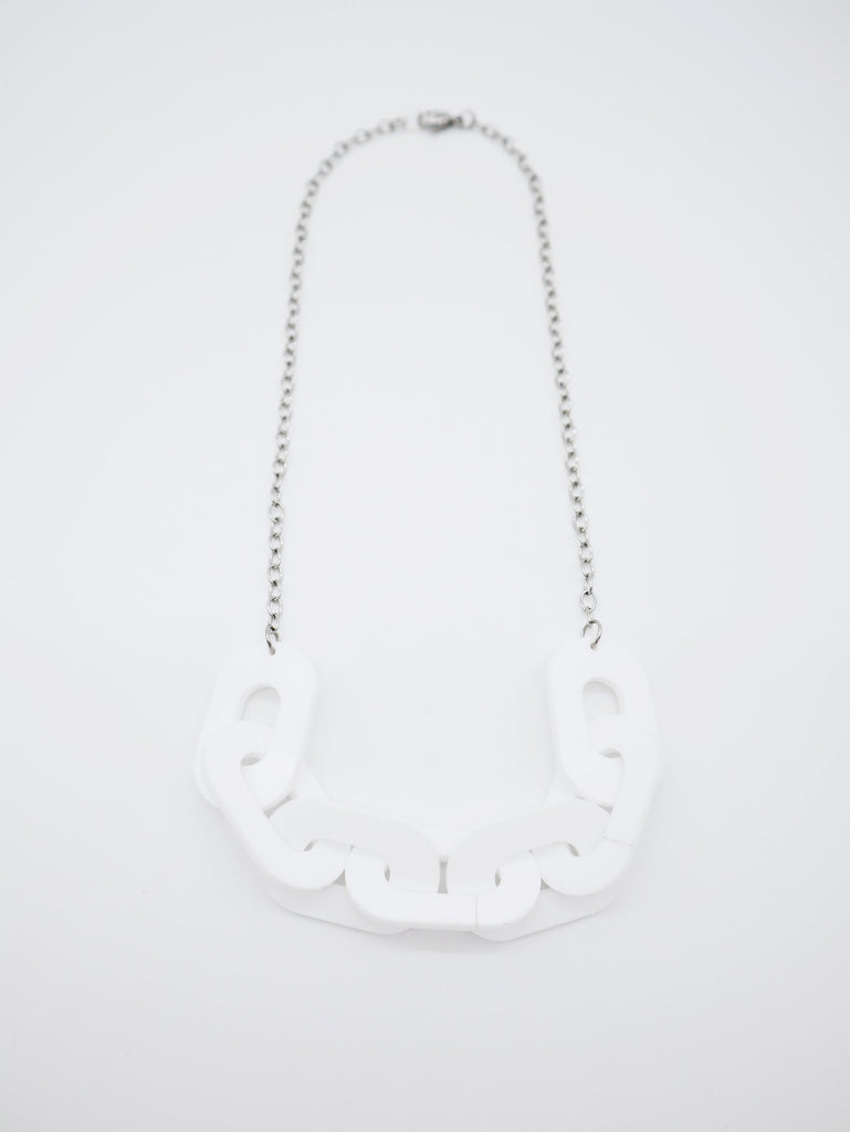 Link Necklace Jewelry Ravel & Unravel Opaque White