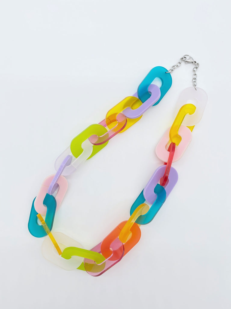 Rainbow Link Necklace Ravel & Unravel