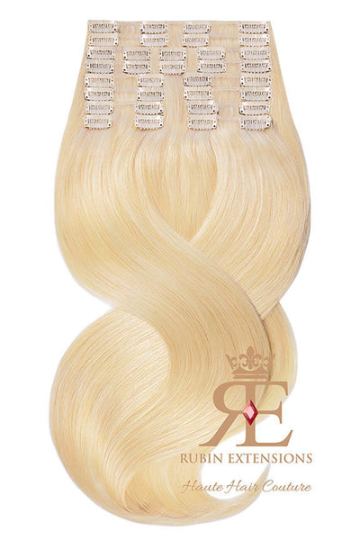 Extension de Cheveux a Clip Naturel Blond Miel