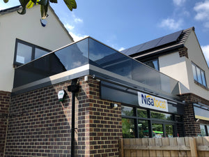 Tinted Glass Base channel balustrade
