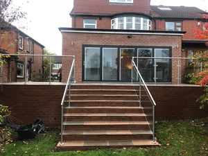 Stainless steel post balustrade Leeds