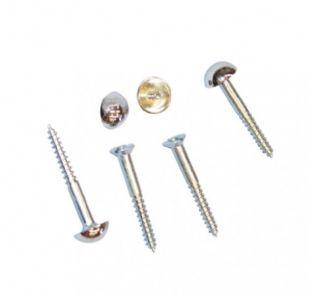Chrome dome capped screws - Wakefield Glass & Aluminium