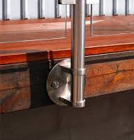 Side Mounted round post for handrail - Wakefield Glass & Aluminium