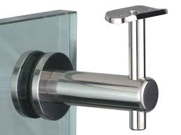 Through the glass handrail bracket - Wakefield Glass & Aluminium
