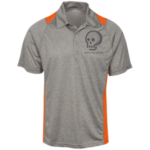 GTD Heather Moisture Wicking Polo - Golf to Death