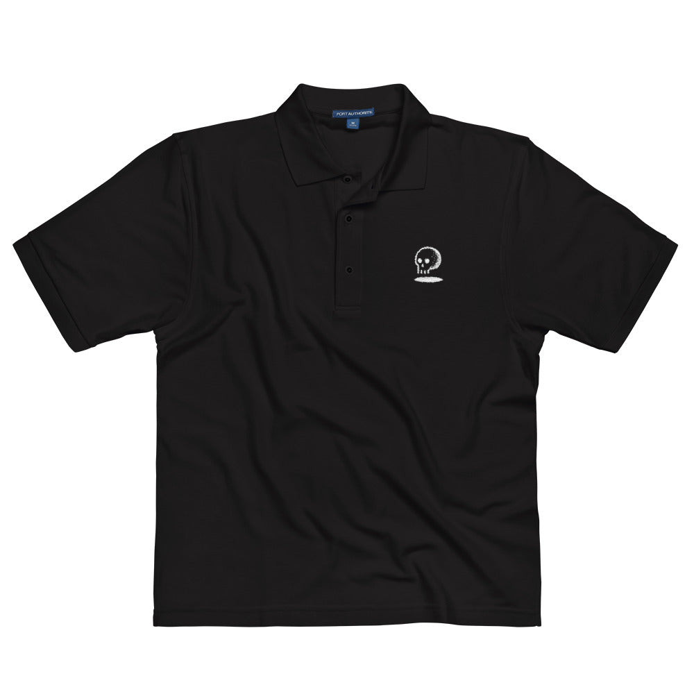 Skull Ball Embroidered Polo Shirt - Golf to Death