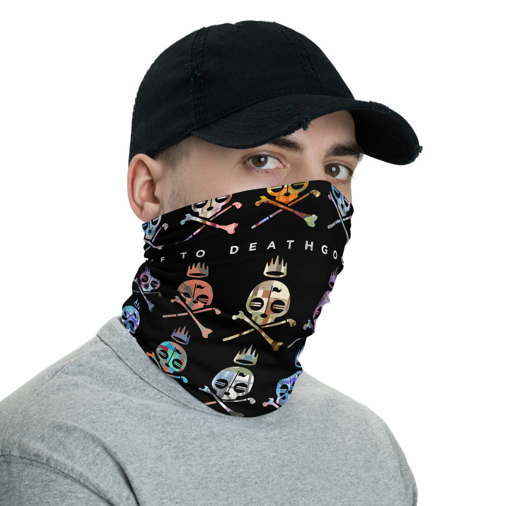 Mosaic Skulls Neck Gaiter - Golf to Death