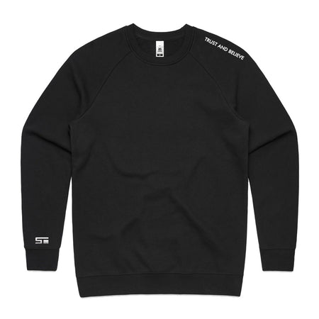 Unisex T&B Crewneck - Black (Embroidered)