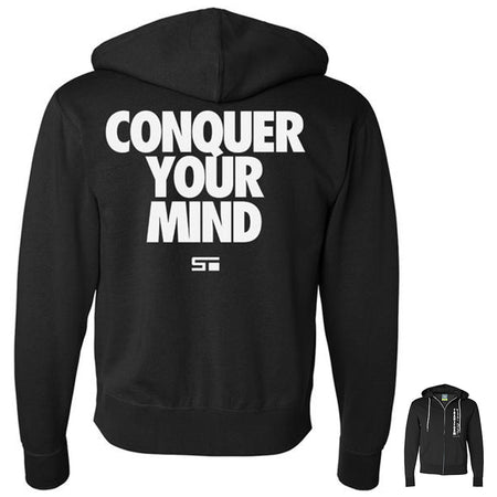 Conquer Your Mind Zip Hoodie Black