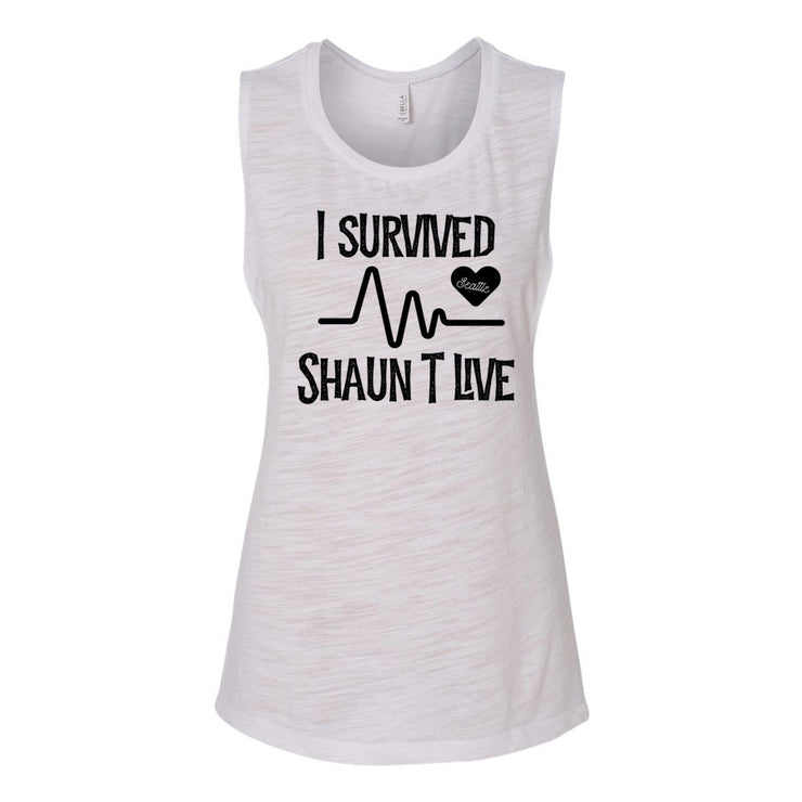 I Survived Heart Rate Women's Flowy Muscle Tank