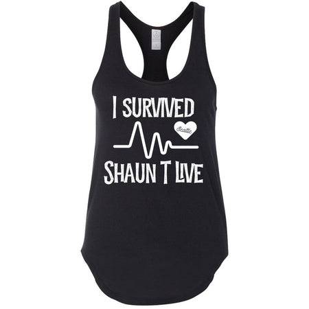 I Survived Heart Rate Women's Premium Racerback - Black