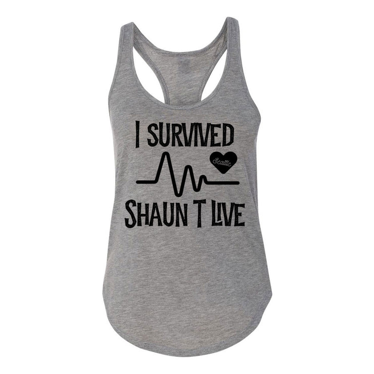 I Survived Heart Rate Women's Premium Racerback