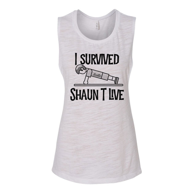 I Survived Push-Up Women's Flowy Muscle Tank