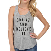 Say It And Believe It Women's Racerback