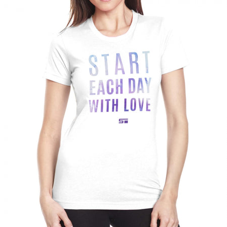 Start Each Day With Love Men's/Women's Tee
