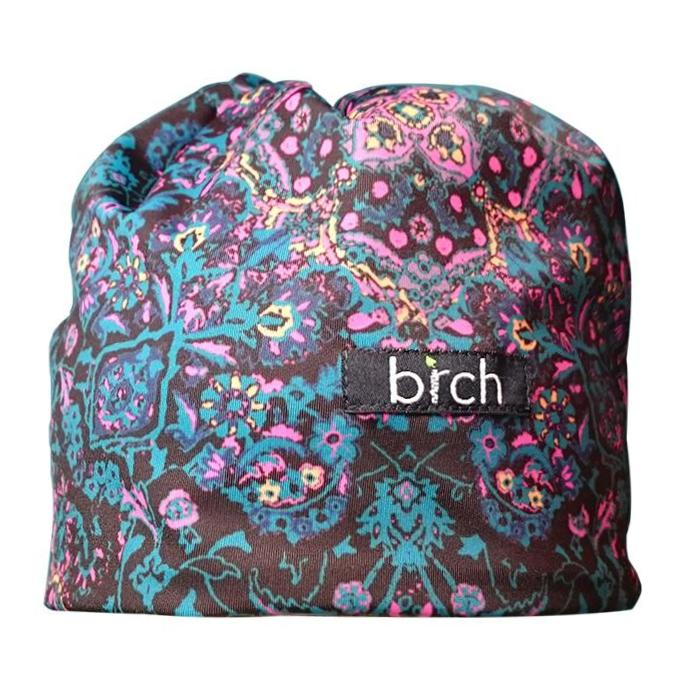 Teal, Pink, Tangerine Paisley Polartec Lined Hat