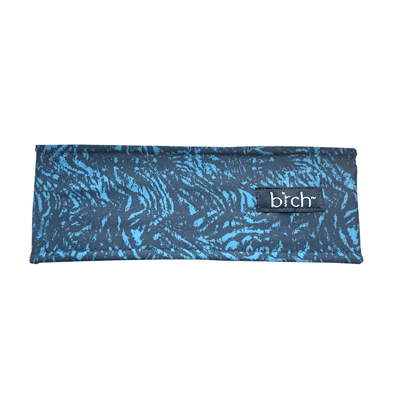 Black Blue Abstract Polartec Lined Headband
