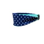 Navy With White Polka Dot Fitness Headband