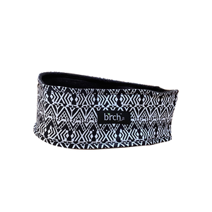 Black White Aztec Fleece Headband