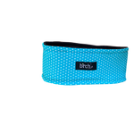 Teal with White Polka Dot Fleece Headband