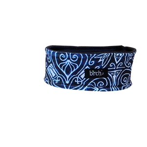Navy White Art Fleece Headband