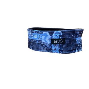 Denim Aztec Fleece Headband