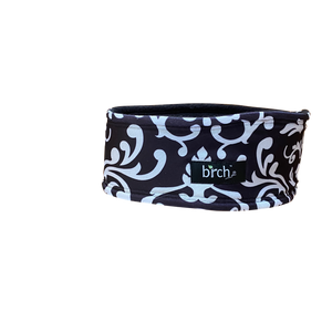 Black Damask Fleeced Headband