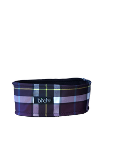 Purple Plaid Polartec Lined Headband